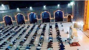 صلاة التراويح بالتفصيل جماعة بالمسجد